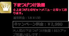 下まつげつけ放題 キャンペーン料金:¥2,980